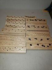 Wood mounted rubber stamps 17pc lot