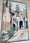 Vtg  Wall Tapestry Art   Hanging Home Decor Tapestries  Home Scene
