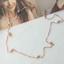 Kendra Scott Rue Long Strand Necklace In Rose Gold NEW