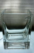 *Stylish Designer Sandra Rich  heavy  glass vase.