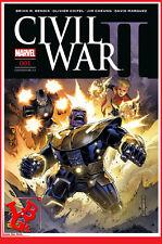 CIVIL WAR II 2 1 01 Janvier 2017 Cover 2/3 Marvel Panini Coipel Bendis # NEUF #