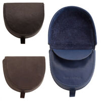 Mens Premium Grade Round Edge Leather Tray  Coin Purse Note Section Black Blue