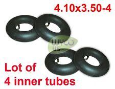 LOT OF 4 WHEEL INNER TUBES, 4.10/3.50-4, 4.10x3.50-4, 4.10-4, 11X4.00-4, TR87 VA