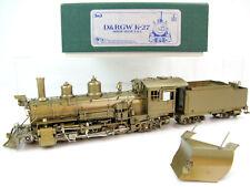 PFM SKI Brass SN3-Scale D&RGW K-27 Inside Valve 2-8-2 Locomotive + Snow Plow