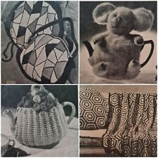 1940s Stained Glass Tam Toy Doll Koala Tea Cosy Patons 252 Knitting Pattern Book