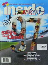 Dick Trickle original autograph Inside NASCAR magazine, Nazareth Speedway ticket