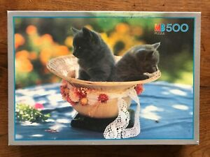 MB Puzzle 500 piece jigsaw - Kittens 20 inches (50.5cm) x 14 inches (34.5cm)