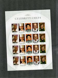 MNH Full Pane Of Forever Stamps Sc#4922-6 Celebrity Chefs