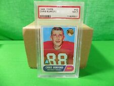 1968 Topps Football # 43 Chris Burford PSA 7 NM