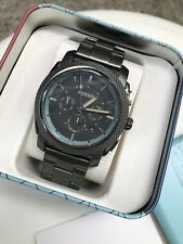 Fossil Watch * FS5172 Machine Knurled Chrono Gunmetal Stainless Steel COD Paypal