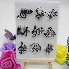 Plastic Music Embossing Folder Template DIY Card Scrapbooking Craft 11*15.5cm.