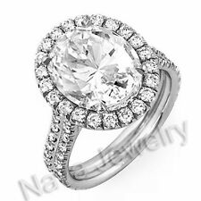 4.42 Ct. Oval Cut Diamond Engagement Bridal Ring EGL