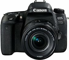 Canon EOS 77d - Cámara Réflex de 24.2 MP (vídeo Full HD WiFi Bluetooth) Neg...