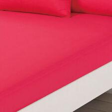 Lenzuola e federe rosa con fantasia tinta unita in microfibra
