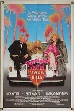 DOWN AND OUT IN BEVERLY HILLS FF ORIG 1SH MOVIE POSTER RICHARD DREYFUSS (1986)