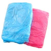 3Pcs Disposable Plastic Adult Emergency Waterproof Rain Coat Hood Poncho D6 T7I5