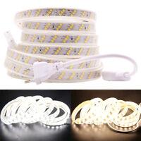 220V 240V Led strip 2835 180Leds/m Three Row Waterproof flexible tape light New