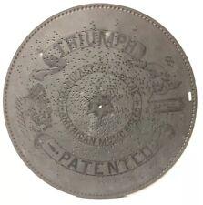 Antique Triumph Music Box Co Metal Disc 15.5 Inch• March #2108