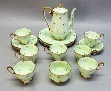 Fine ROYAL ALBERT Hand-Painted China Tea Set for 7  Rare Fleurettes Pattern