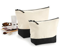 Womens Ladies Canvas Make Up Toiltery Wash Bag Large Travel Cosmetic Accessory