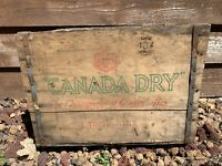 "Large Canada Dry The Champagne Of Ginger Ales Wood Crate/Box 17 1/4""x11.5""x12.5"""