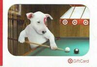 Target Gift Card Bullseye Dog Playing Pool - Pool Table - No Value - On Backing