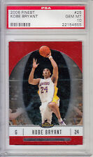 2006 Finest Veteran Basketball Los Angeles Lakers Kobe Bryant Guard PSA GEM MT10