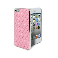 Coque Pour iPhone 5 Satin Chrome & Diamant Rose  inclus