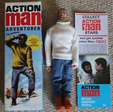 vintage action man 40th anniversary flocked hair hard hands adventurer