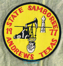 LMH Patch  1977 GOOD SAM CLUB SAMBOREE  State Rally  ANDREWS TX  Oil Well Field