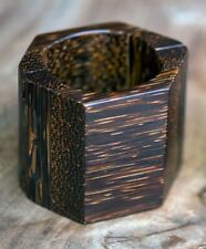 Exotic Big Brown Bracelet Sustainable Designer Exclusive Handmade With Pejibaye