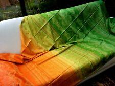 Bassetti Satin Bettgarnitur Brunelleschi grün orange 240x220cm 2 Kissen 40x80cm