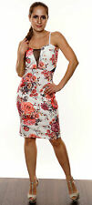 Square Neck Stretch, Bodycon Floral Dresses for Women