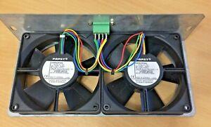 2 x EBM PAPST - VARIOFAN, 119 x 119 x 32MM, 12VDC, 4312/10MV 3.4W on frame