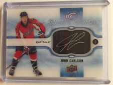 2015-16 Ice John Carlson Auto Swatches Upper Deck 15/16