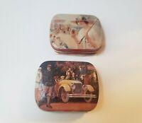 COCA-COLA Tin Metal Box Mints 1995 Lot Of 2 Collectible Mini Tins Vintage VTG