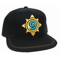 OFFICIAL HEARTHSTONE LOGO/ SYMBOL STITCHED BLACK SNAPBACK CAP (BRAND NEW)