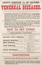Print. 1919-20. SALFORD. VENEREAL DISEASES. HOW TO GET CURED
