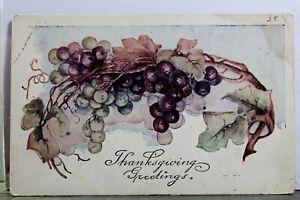 Greetings Thanksgiving Postcard Old Vintage Card View Standard Souvenir Postal