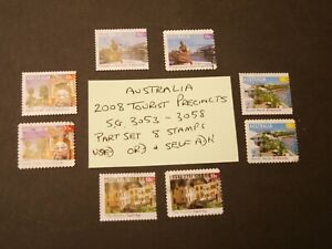 Australia 2008 Tourist Precincts SG 3053 to 3058   Used Ord and Self Adhesive