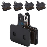 4 Pairs Black Bicycle Cycling Resin Disc Brake Pads Fit for Shimano M375 M446
