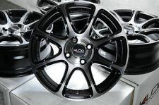 "15"" Wheels Chevrolet Aveo Cobalt Spark Fiat 124 Miata Cooper Black Rims 4x100"