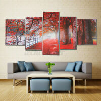 5PCS Modern Art Oil Paintings Canvas Print Unframed Pictures Home Wall Decor US