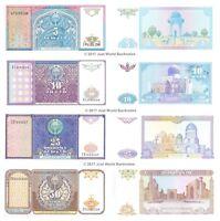 Uzbekistan 5 + 10 + 25 + 50 Sum 1994 Set of 4 Banknotes 4 PCS UNC