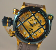 New Mens Invicta 16200 Russian Diver Swiss 6497Mechanical Gold Dial  Watch
