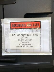 HP LASERJET M276nw / CF145A / 15 PAGES only   £225 + VAT