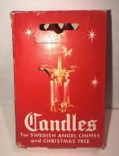 Vintage Wax Candles Swedish Angel Chimes Christmas Tree Box Of 11-1/2 Red