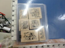 Stampin Up! Little Trucks set back hoe dump truck construction   RUBBER STAMP 5I