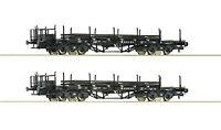 Roco H0 76196 Rungenwagen-Set mit Schienenbeladung der DR - NEU