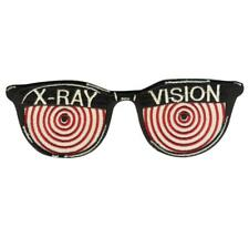 X-Ray Vision Glasses Embroidered Iron On Patch Retro Novelty Vintage